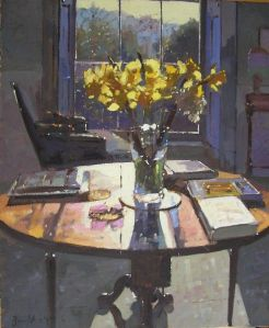 daffodils contre jour bruce yardley born 1962