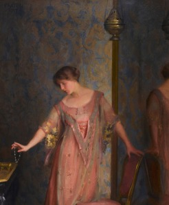Rose and Blue 1913 by William McGregor Paxton American 1869-1941