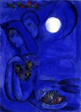 In un bacio saprai tutto quello che è stato taciuto. Neruda. Chagall, Saint Jean Cap-Ferrat, 1949